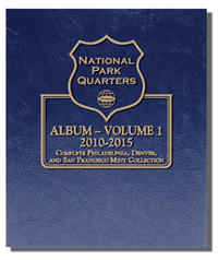 WHITMAN ALBUM: NATIONAL PARK QUARTERS 2010-15 P,D & S MINTS