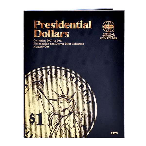 Whitman Presidential Dollar 2007-2011 P&D (Vol. 1) Folder