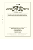 Scott National Series Album Pages: U.S. Small Panes Semi-Postal (1998-2019) (7 pages)