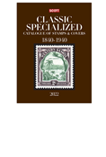 2022 SCOTT CATALOGUE CLASSIC SPECIALIZED (WORLD 1840-1940)