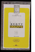 ScottMount 174x130 Stamp Mounts - Clear