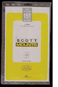 ScottMount 139x151 Stamp Mounts - Black