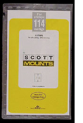 ScottMount 245x114 Stamp Mounts - Black