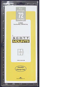 ScottMount 72x265 Stamp Mounts - Clear