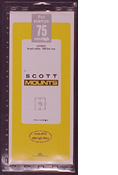 ScottMount 75x265 Stamp Mounts - Black