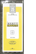 ScottMount 25x265 Stamp Mounts - Black
