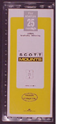 ScottMount 25x265 Stamp Mounts - Clear