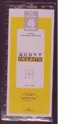 ScottMount 46x265 Stamp Mounts - Clear