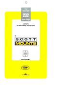 ScottMount 182x232 Stamp Mounts - Black