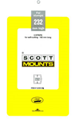 ScottMount 182x232 Stamp Mounts - Clear