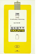 ScottMount 182x244 Stamp Mounts - Black