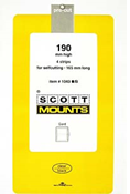 ScottMount 165x190 Stamp Mounts - Black