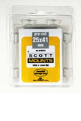ScottMount 25x41 Stamp Mounts - Clear