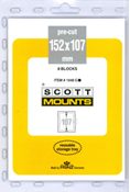 ScottMount 152x107 Stamp Mounts - Clear