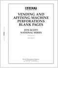 Scott US Vending and Affixing Machine Blank Pages