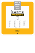 ScottMount 2016 US Supplement Stamp Mount Set - Clear