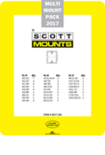 ScottMount 2017 US Supplement Stamp Mount Set - Black