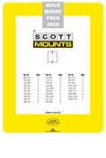 ScottMount 2019 US Supplement Stamp Mount Set - Black