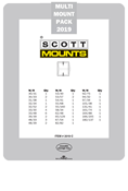 ScottMount 2019 US Supplement Stamp Mount Set - Clear