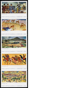 Post Office Murals Custom ScottMount 50x160 Stamp Mount - Black
