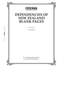Scott Dependencies of New Zealand Blank Pages