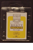 ScottMount 40x25 Stamp Mounts - Clear
