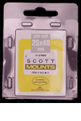 ScottMount 25x40 Stamp Mounts - Black