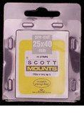 ScottMount 25x40 Stamp Mounts - Clear