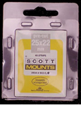 ScottMount 25x22 Stamp Mounts - Black