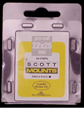 ScottMount 22x25 Stamp Mounts - Black
