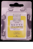 ScottMount 41x31 Stamp Mounts - Clear