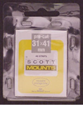 ScottMount 31x41 Stamp Mounts - Black