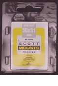 ScottMount 50x31 Stamp Mounts - Black