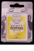 ScottMount 31x50 Stamp Mounts - Clear