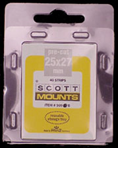 ScottMount 25x27 Stamp Mounts - Clear