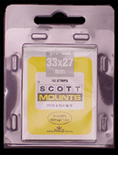 ScottMount 33x27 Stamp Mounts - Clear
