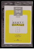 ScottMount 73x63 Stamp Mounts - Black