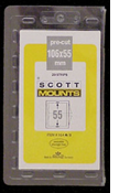 ScottMount 106x55 Stamp Mounts - Clear