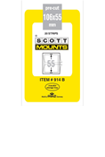 ScottMount 106x55 Stamp Mounts - Black