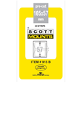 ScottMount 105x57 Stamp Mounts - Black