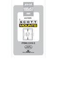 ScottMount 105x57 Stamp Mounts - Clear