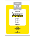 ScottMount 165x94 Stamp Mounts - Black