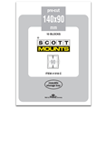 ScottMount 140x90 Stamp Mounts - Clear