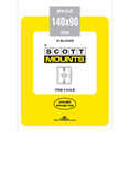ScottMount 140x90 Stamp Mounts - Black