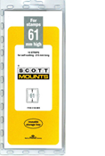 ScottMount 61x215 Stamp Mounts - Black