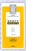 ScottMount 63x240 Stamp Mounts - Clear