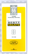 ScottMount 66x240 Stamp Mounts - Black