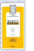 ScottMount 68x240 Stamp Mounts - Black
