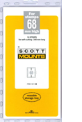 ScottMount 68x240 Stamp Mounts - Clear
