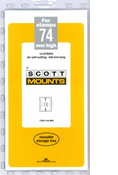 ScottMount 74x240 Stamp Mounts - Black